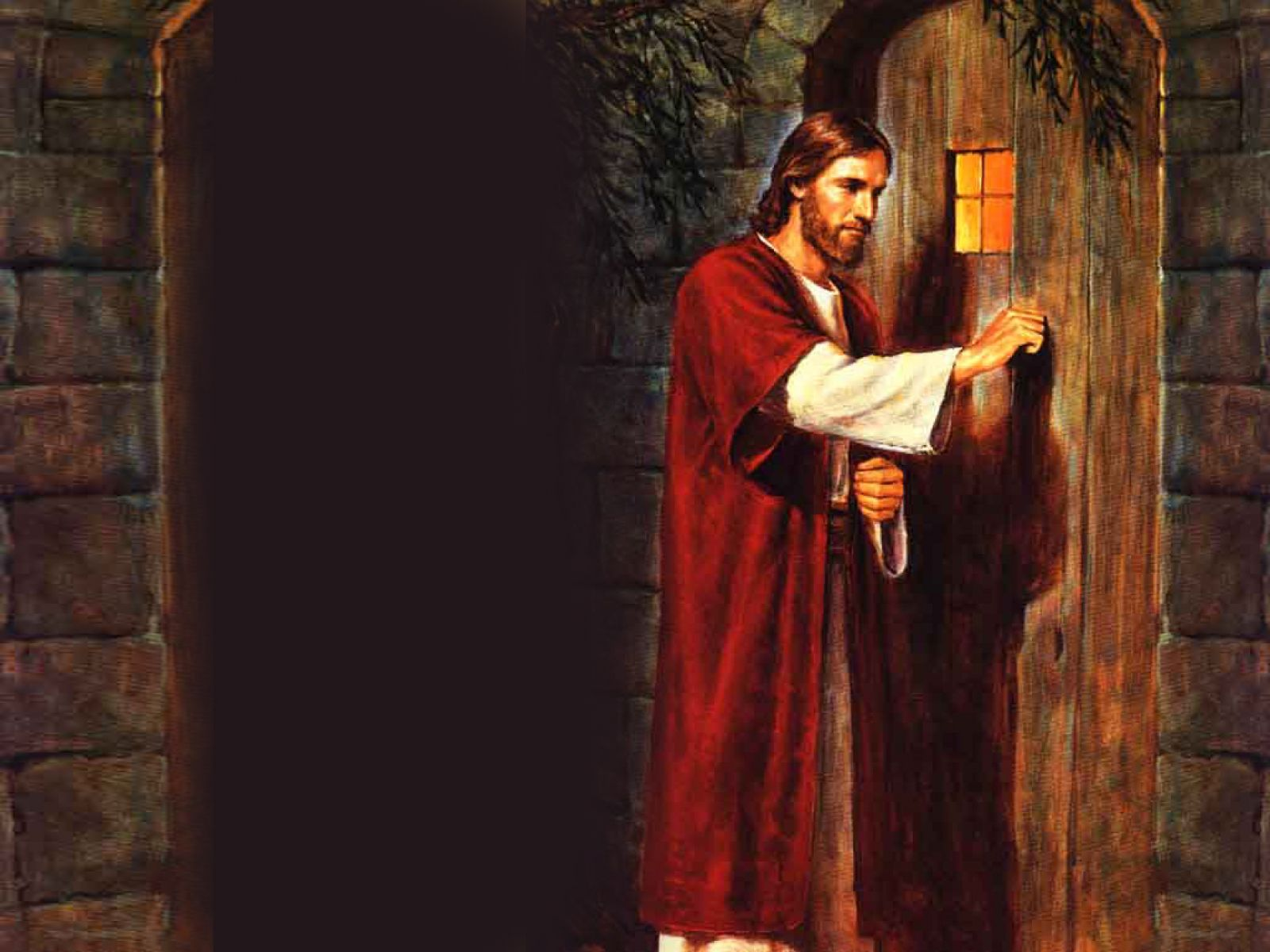 Jesus knocking The Door